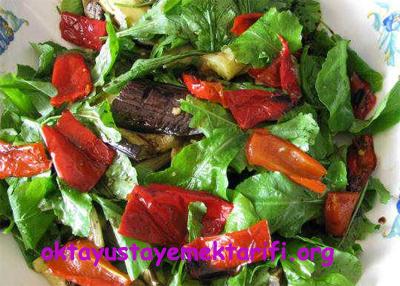 izgara sebzeli salata