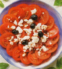 domates ve peynir salatasi