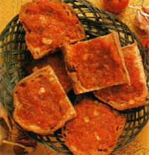 domates ve sarimsakli ekmek