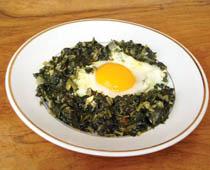 yumurtali ispanak