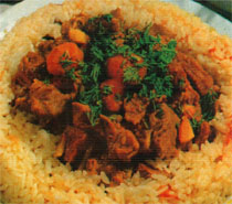 pilavli comlek kebabi