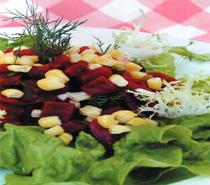 Mısırlı Taze Soğanlı Pancar Salatası Tarifi
