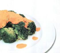 kirmizi biber soslu brokoli