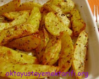 firinda elma dilim patates