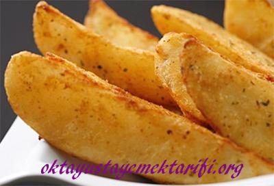 elma dilim patates kizartmasi