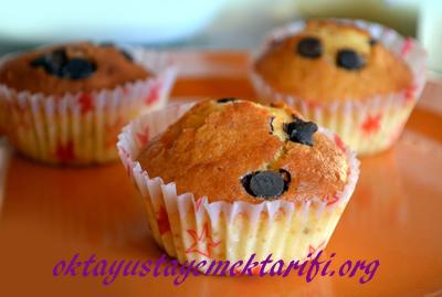 portakalli ve damla cikolatali muffin