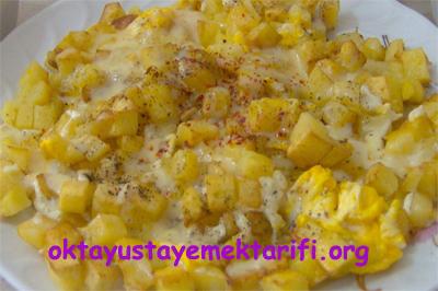 kahvaltilik patatesli yumurta