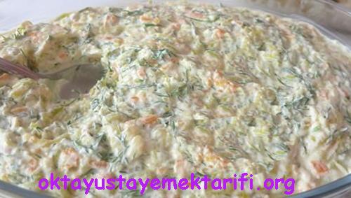 yogurtlu havuc kabak salatasi