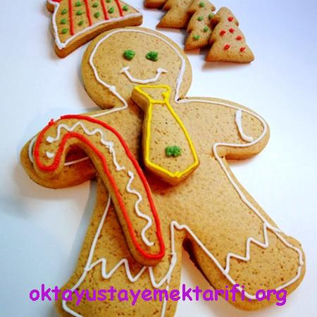 zencefilli tarcinli yeni yil kurabiyesi
