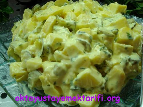 mayonezli hardalli patates salatasi