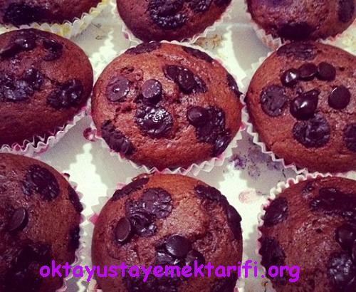 damla cikolatali kakaolu muffin