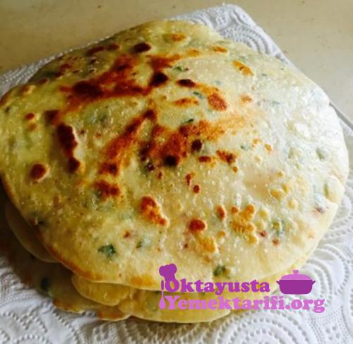 peynirli maydanozlu krep