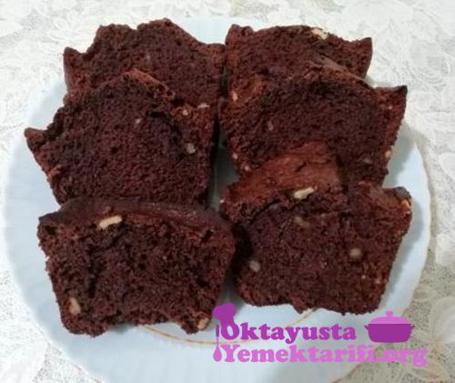 cevizli kakaolu kek