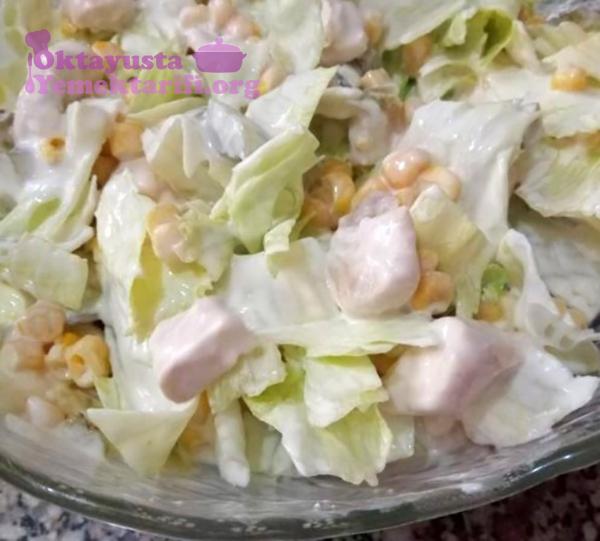 tavuklu gobek salata