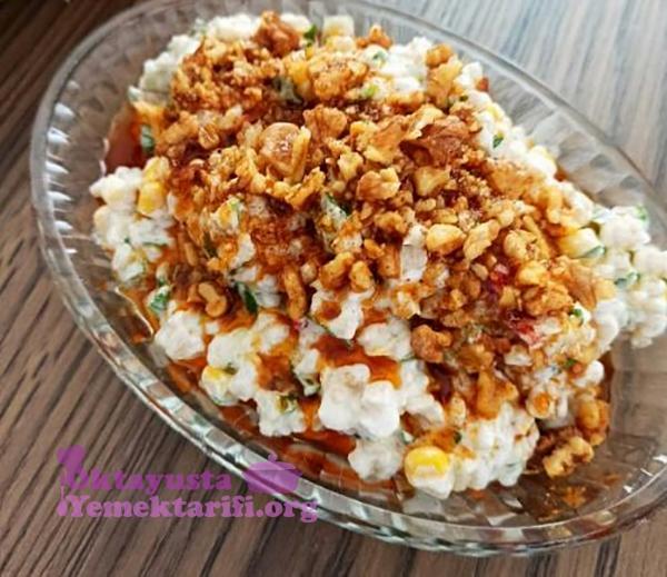 cevizli yogurtlu bugday salatasi